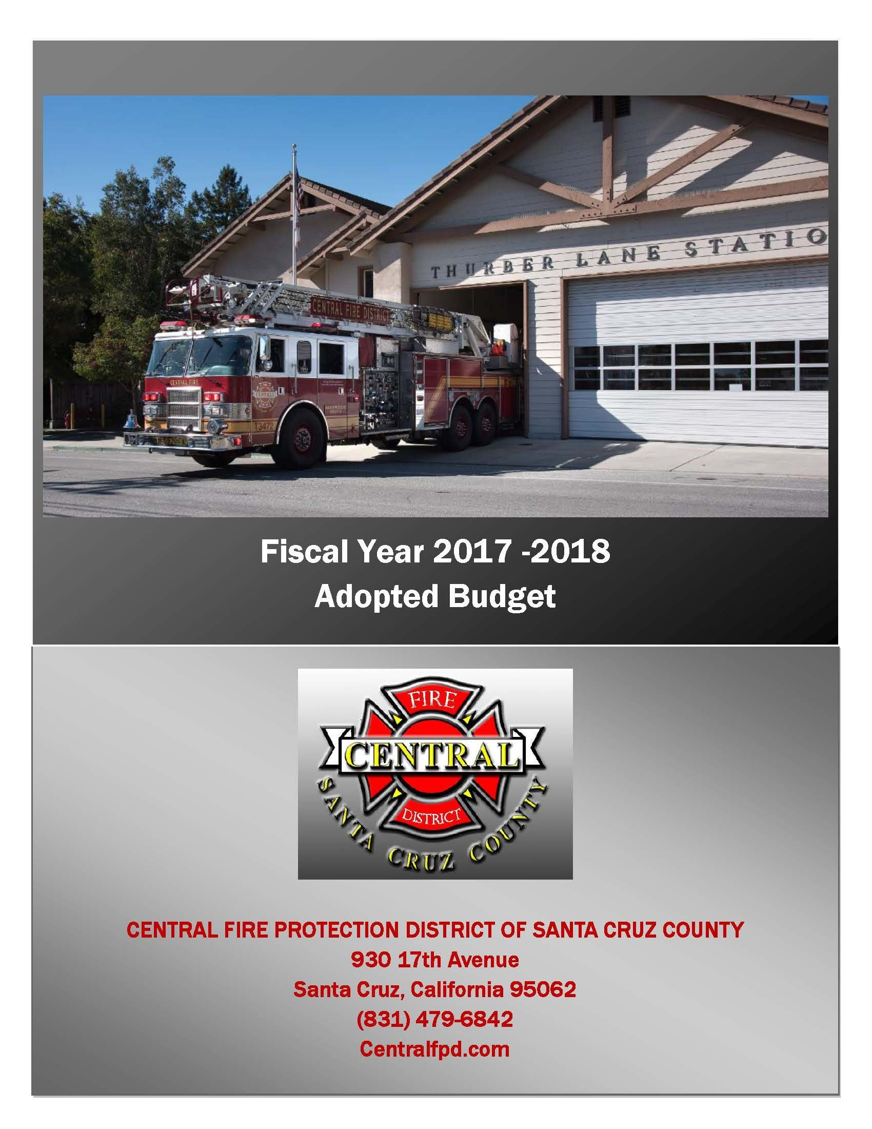 2017-2018 Budget Coverpage