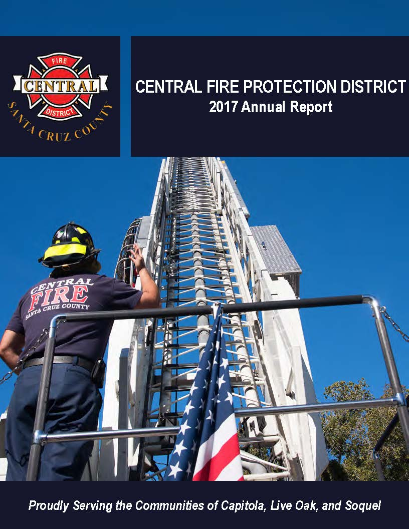 2017 Central Fire Protection District Annual Report_cover image