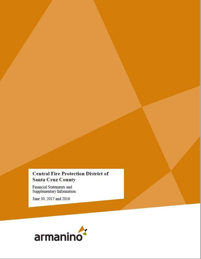Fiscal Year 2016-2017 Audited Financial Statement Coverpage