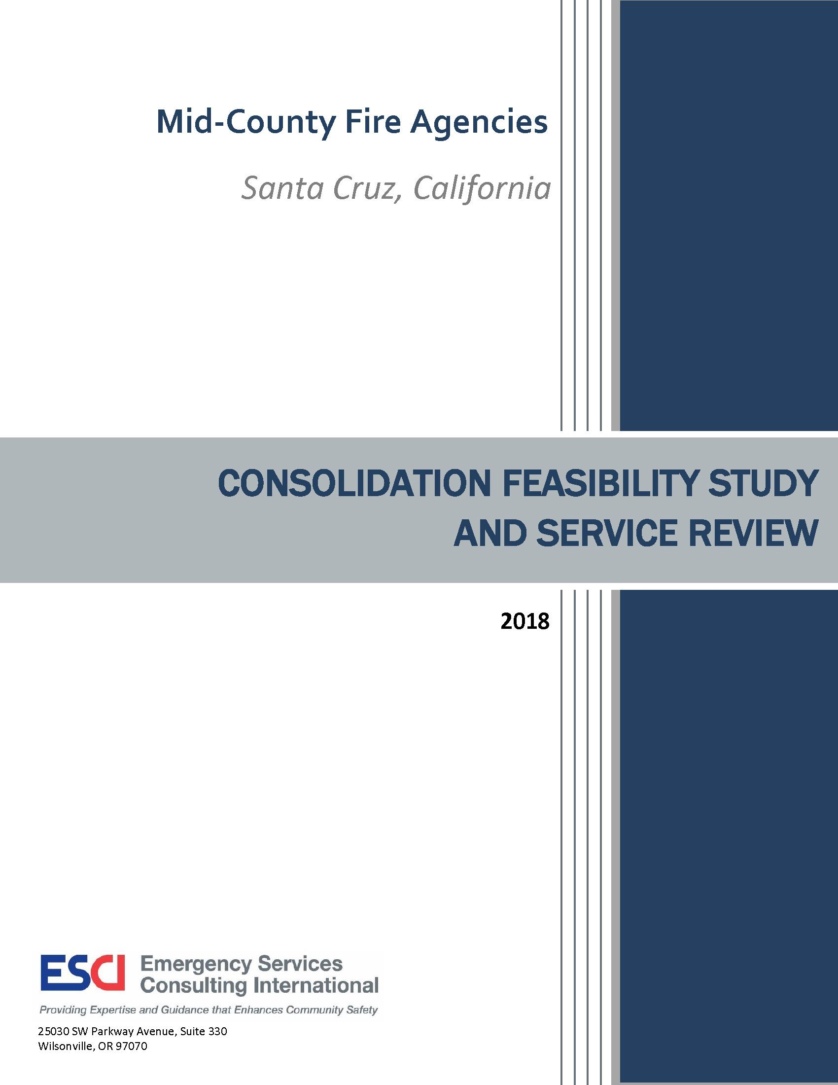 Mid-County Fire Agency Consolidation Study and Service Review Report - coverpage