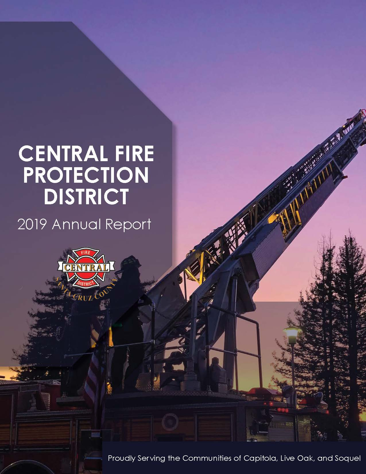 2019 Central Fire Protection District Annual Report - cover