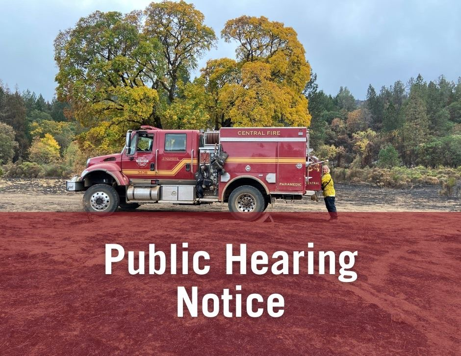 Fire Engine- Public hearing notice