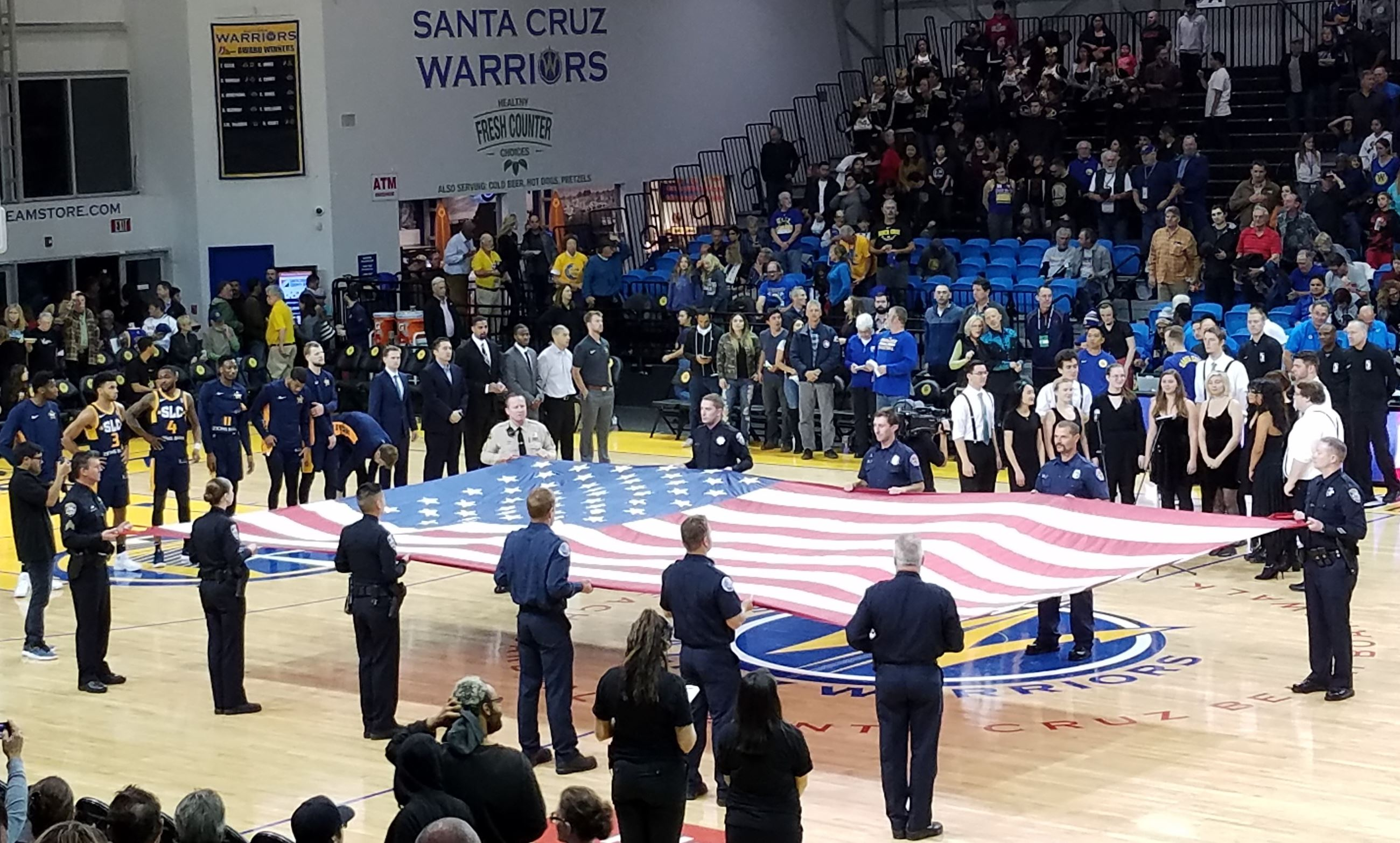 2018 SC Warriors Local Heroes Night with Flag